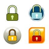 padlock икон Стоковые Изображения