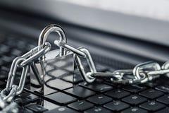 padlock клавиатуры компьютера Безопасность сети, безопасность данных и ПК предохранения от антивируса Стоковые Изображения