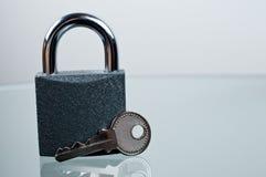 padlock ключа стола Стоковое Изображение RF