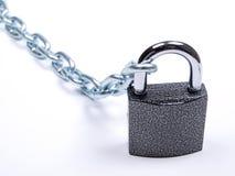 padlock металла цепей Стоковые Фотографии RF