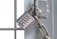 Padlock металла и кнопочная панель штыря Стоковые Фото