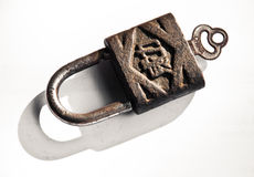 padlock ржавый Стоковое фото RF