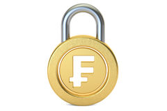 Padlock франка, перевод 3D Стоковые Фотографии RF