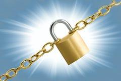 padlock цепей Стоковое Фото
