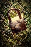 padlock цепи Стоковая Фотография