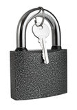 Padlock. Isolated on white background Royalty Free Stock Image