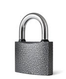 Padlock. Metallic padlock on white background Stock Photography