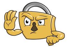 Безопасный жест 2 стопа padlock Стоковое Изображение