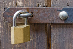 Padlock. A padlock on a shed in Munich, Germany Royalty Free Stock Images