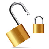 Padlock. Vector illustration of a padlock. Easily to close. Detailed portrayal Stock Photos