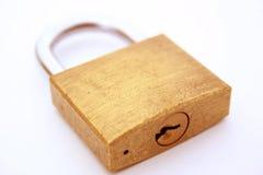 Padlock. Gold padlock Stock Photography