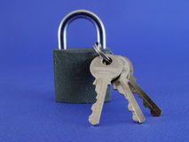 Padlock. With keys Royalty Free Stock Image
