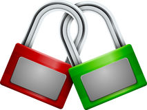 The padlock Royalty Free Stock Images