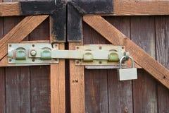 Padlock And A Locking Bar Stock Photography