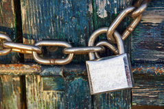 Padlock And Chain Stock Photography