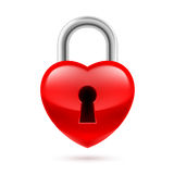 Padlock as heart Royalty Free Stock Photos