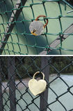 The padlock as a symbol of love Stock Image