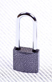 The padlock on the binary code Stock Images