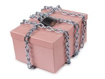 Padlock on box Royalty Free Stock Photos