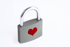 Padlock brand of love Stock Photography