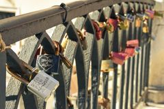 Venice Italy padlocks royalty free stock photo