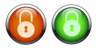 Padlock button Stock Photos