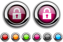 Padlock button. Royalty Free Stock Photography