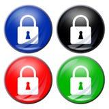 Padlock button Stock Image
