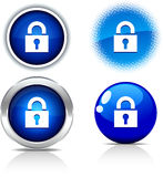 Padlock buttons. Royalty Free Stock Photos