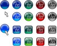 Padlock buttons. Stock Image