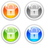 Padlock buttons. Royalty Free Stock Image