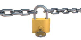 Padlock and chain Royalty Free Stock Images