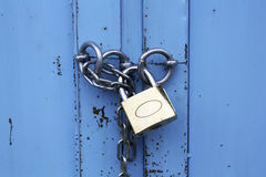 Padlock with chain Royalty Free Stock Images