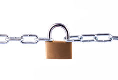 Padlock and Chain Royalty Free Stock Photos
