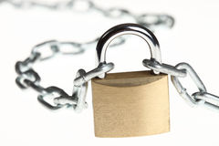Padlock with a chain Stock Image
