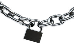 Padlock with chain Stock Photography
