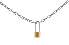 Padlock and chain Royalty Free Stock Photography
