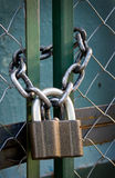 Padlock with chain Stock Image
