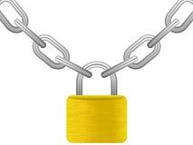 Padlock with chain Stock Photos