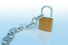 Padlock with a chain Royalty Free Stock Photography