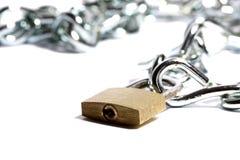 Padlock and chain C Stock Image