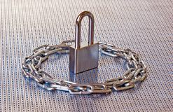 Padlock & Chain Circle Royalty Free Stock Images