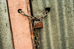 Padlock with chain Royalty Free Stock Image