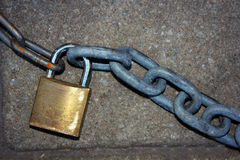 Padlock and chain Stock Images
