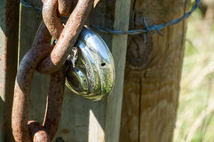 Padlock and chain Royalty Free Stock Image