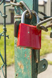 Padlock on the chain Royalty Free Stock Images