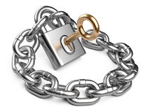 Padlock and chain. Security concept Royalty Free Stock Photo