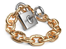 Padlock and chain. Security concept Stock Photo