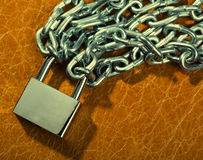 Padlock and chains Royalty Free Stock Photos