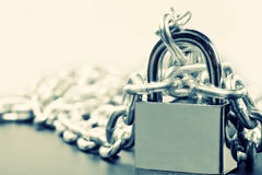Padlock and chains Stock Photography
